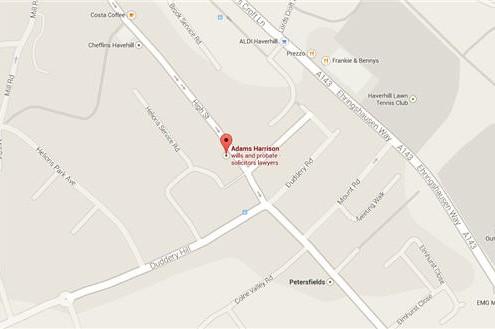 Adams Harrison Haverhill Location Map