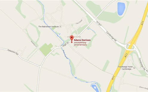 Adams Harrison Sawston Location Map