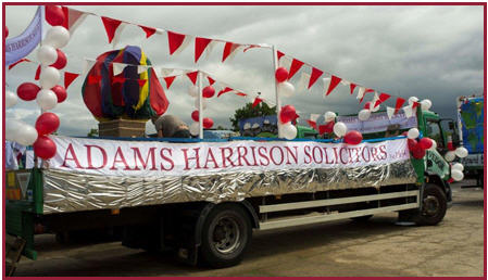 Adams Harrison Float At Saffron Walden Carnival