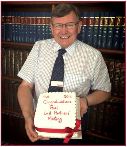 Paul Cammiss With Retirement Cake