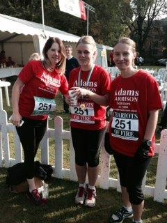 Denise Whitehead, Lisa Thornhill and Rebecca Dedman of Adams Harrison Cambridge Chariots of Fire Event