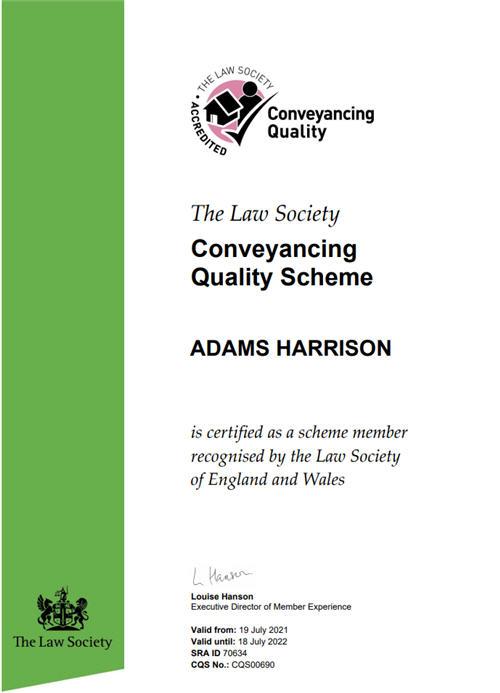 Adams Harrison CQS Certificate july 21-22
