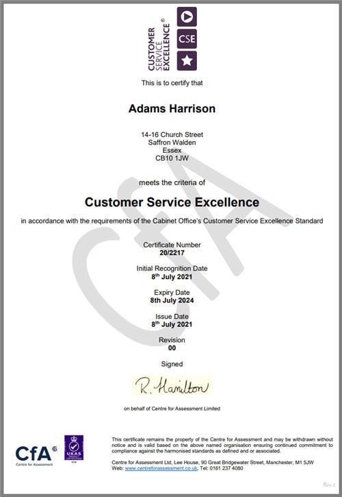 Adams Harrison CSE Certificate july 21-22