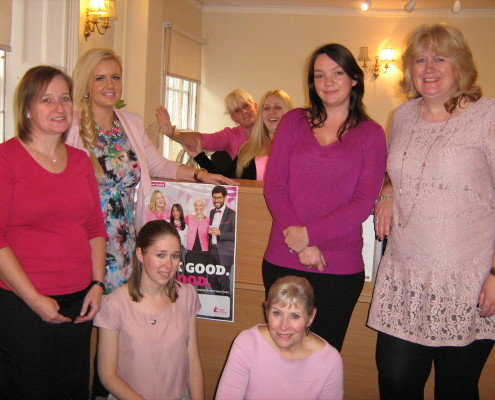 Adams Harrison Saffron Walden Team Support Wear It Pink