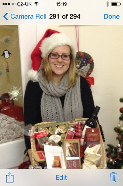Emma Laidlaw Of Adams Harrison With Hamper To Be Donated A Local Food Bank