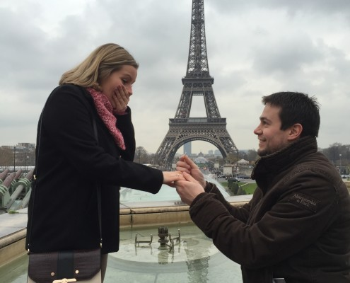 Proposal Picture Emma Laidlaw and James Farenden