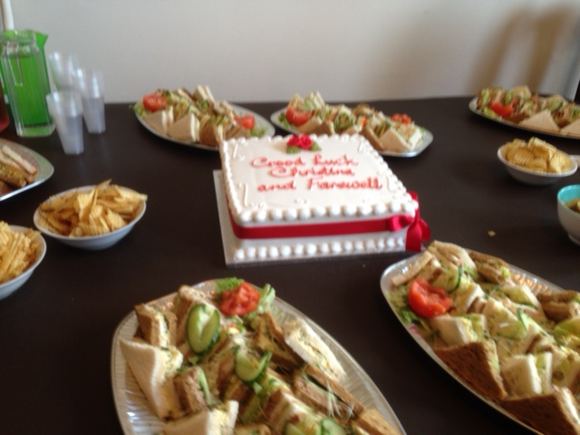 Christina Tapper Retirement Cake