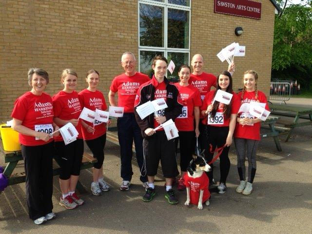 Adams Harrison Team in 30th Sawston Fun Run