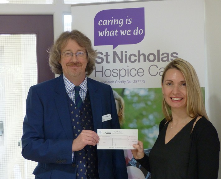 Adams Harrison Presents Cheque to St Nicholas Hospice in Haverhill