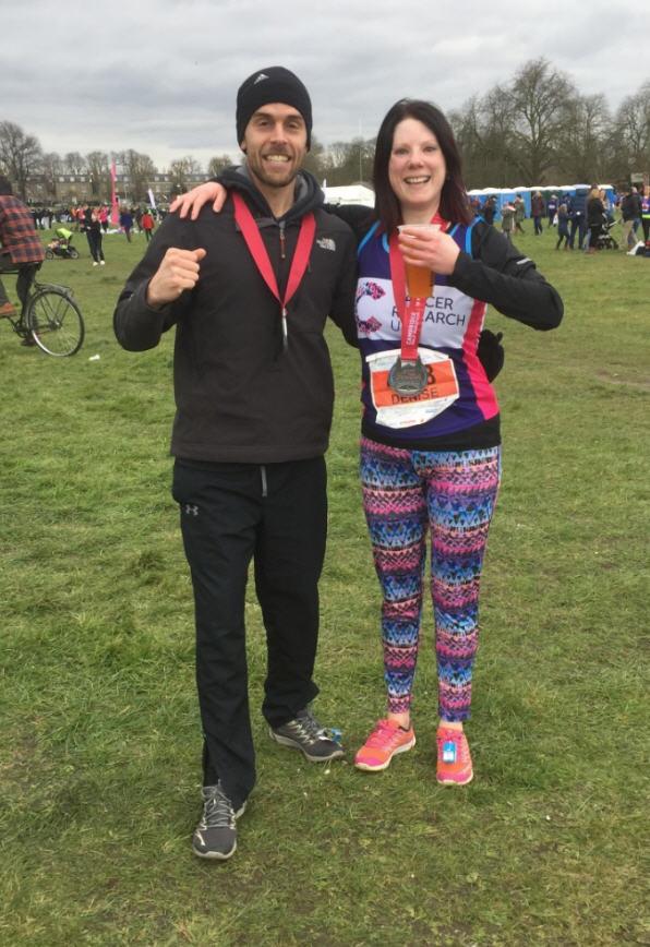 Denise Whitehead At End Of Cambridge Half Marathon Feb 28 2016