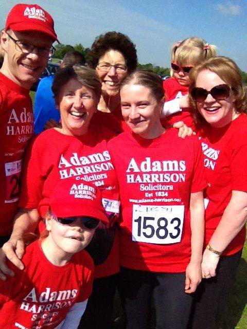 Adams Harrison Team Supporting the Sawston Fun Run 2016 05