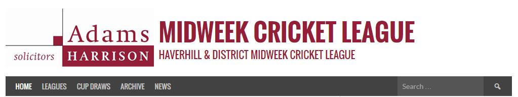 Haverhill Midweek Cricket League Website Image