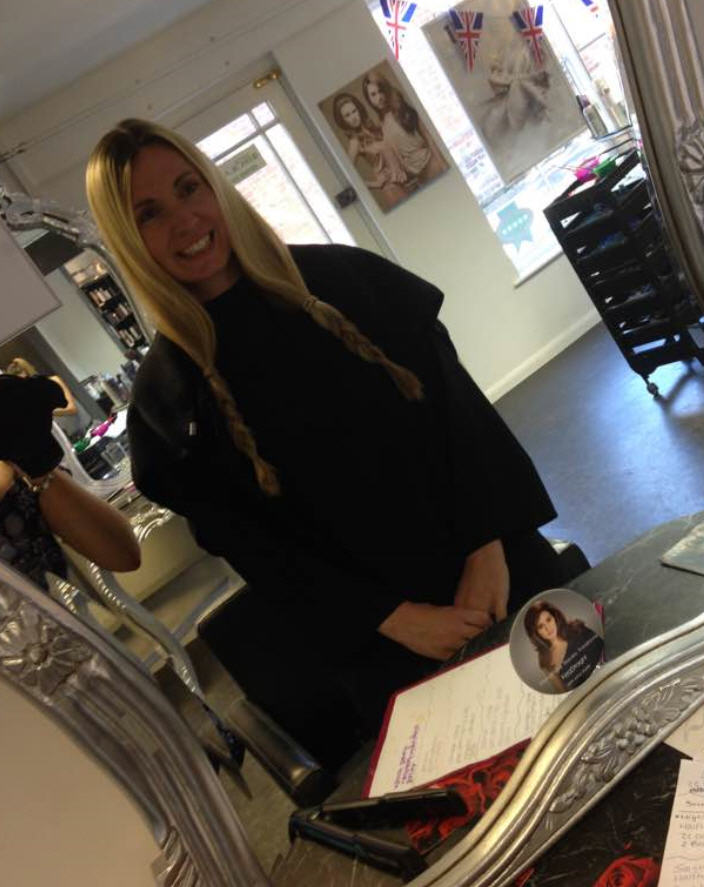 Hayley Ford Hair Donation Before