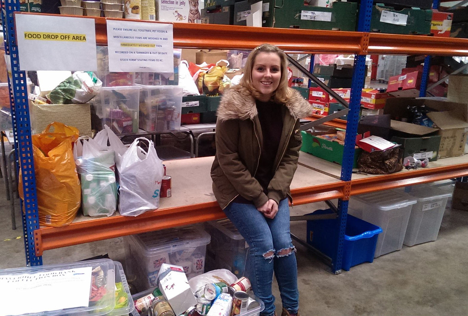 Emma Laidlaw of Adams Harrison At Haverhill Food Bank