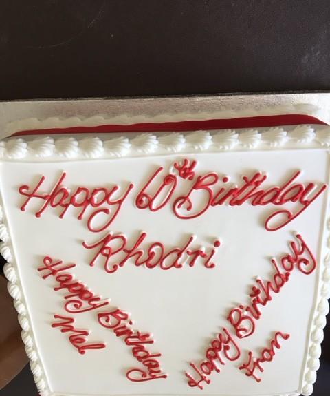 Birthday Cake For Rhodri Rees,Melanie Pratlett and Frances Walker