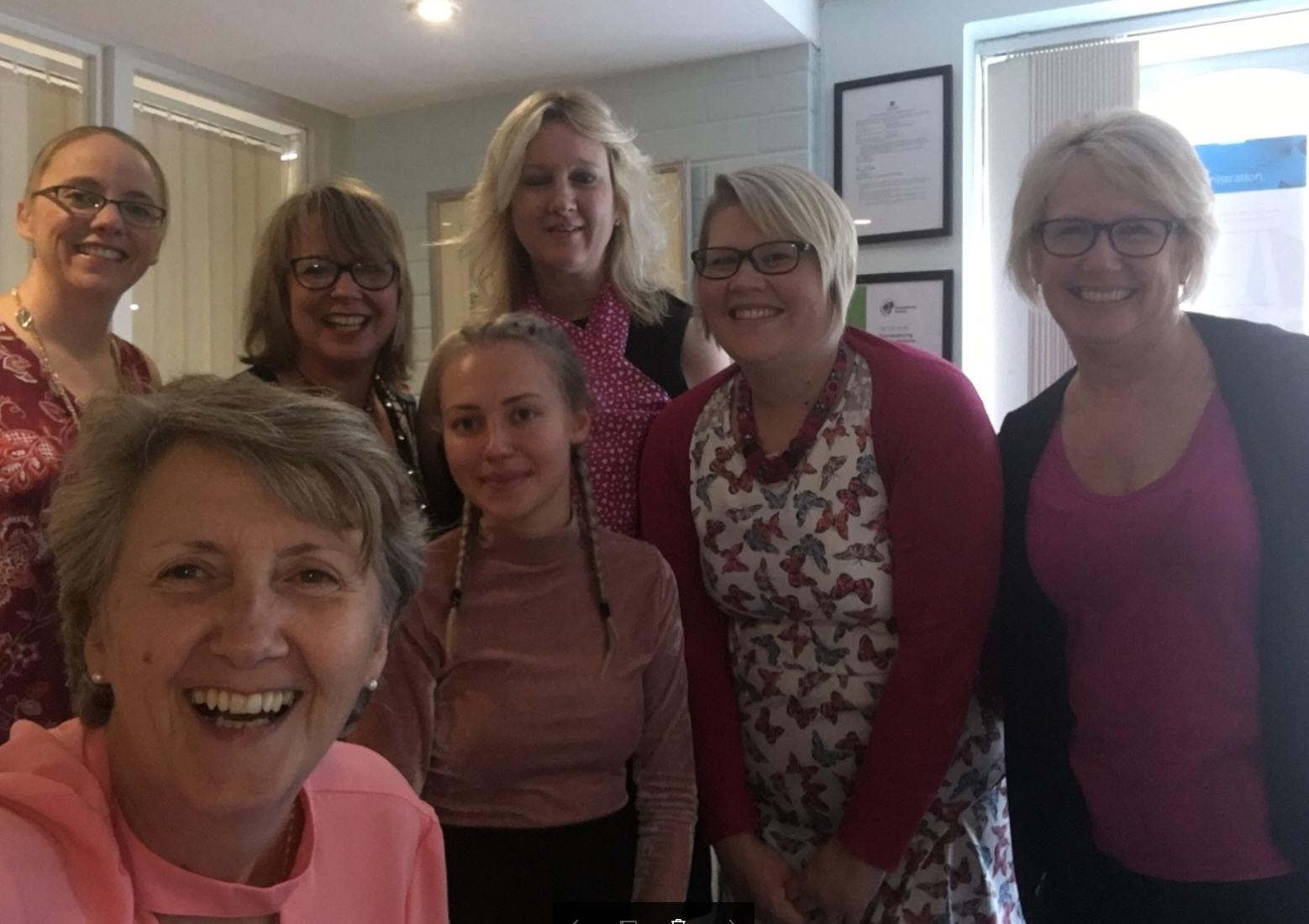Adams Harrison Support Wear It Pink Day 2017