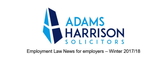Adams Harrison Employment Law Newsletter Winter 2017 Image