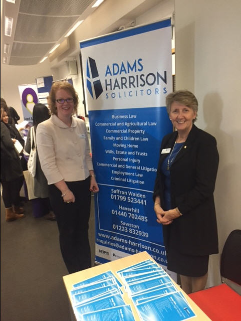 Jenny Carpenter and Sue Lawton of Adams Harrison at Anglia Ruskin Careers Fair
