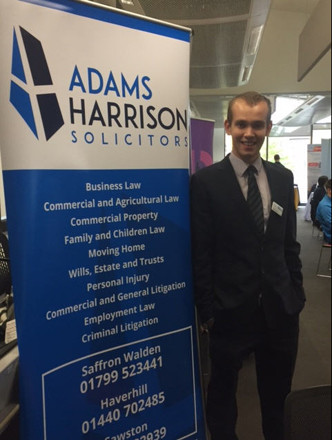 Matt Darmon of Adams Harrison at Anglia Ruskin Careers Fair