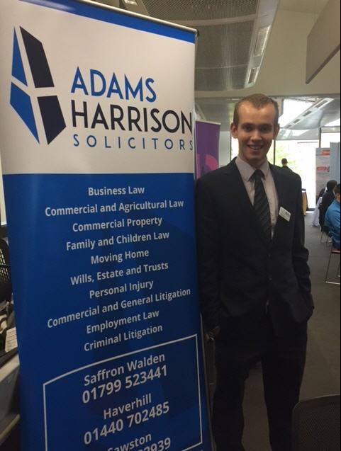 Matt Darmon of Adams Harrison at Anglia Ruskin Careers Fair
