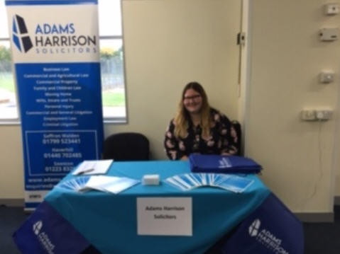 Kelsey Ling of Adams Harrison at Haverhill jobs fair