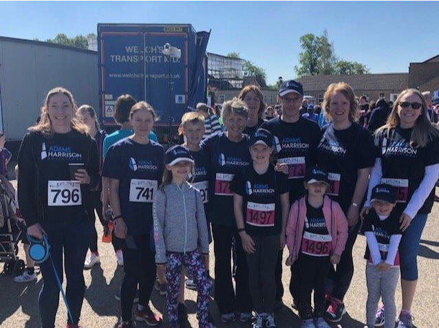 The Adams Harrison Team At The Sawston Fun Run 2019