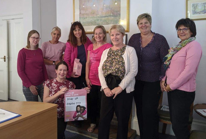 Adams Harrison Saffron Walden Ladies Wear It Pink Oct 2019
