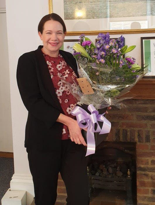 Lucy Potter celebrates 15 years at Adams Harrison