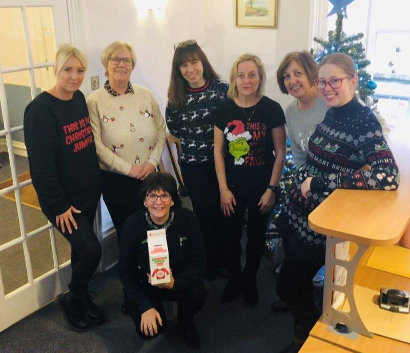 Adams Harrison Christmas Jumper Event Saffron Walden Office Dec 2019